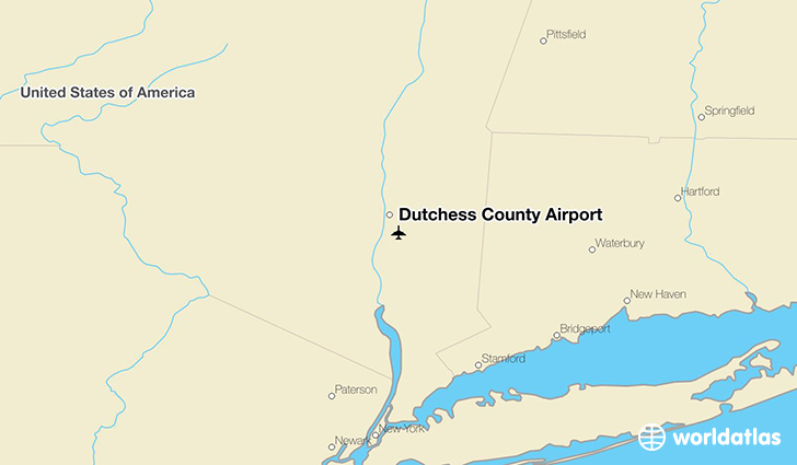 Dutchess County Airport location on a map