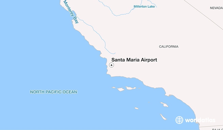 Santa Maria Airport location on a map