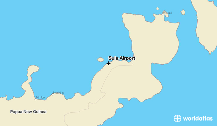 Sule Airport location on a map
