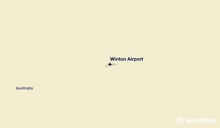 Winton Airport location on a map