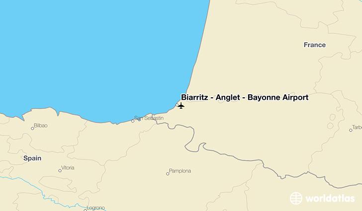 Biarritz Anglet Bayonne Airport BIQ WorldAtlas