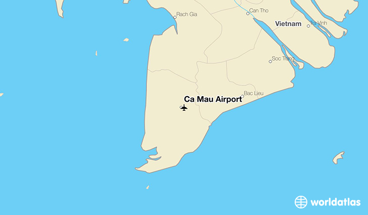 Cà Mau Airport location on a map