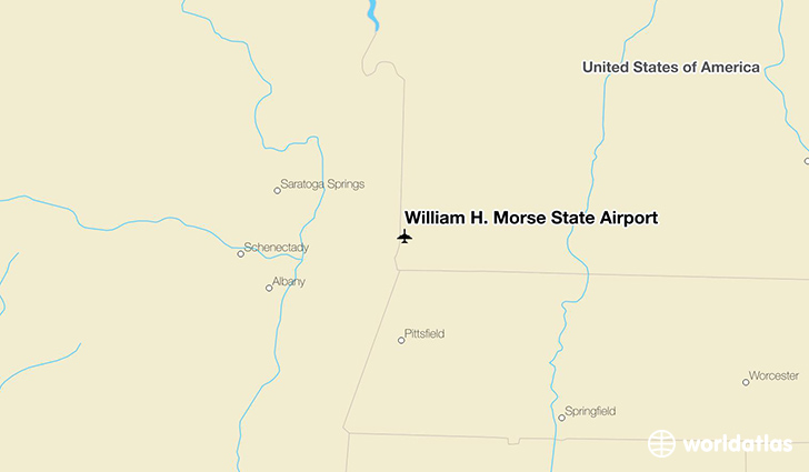 William H. Morse State Airport location on a map