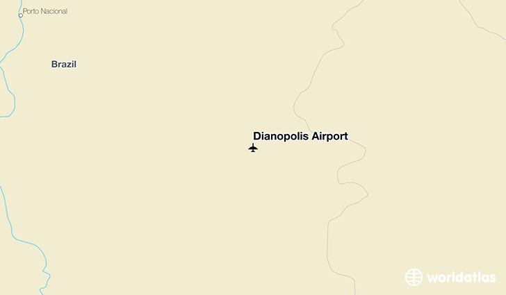 Dianópolis Airport location on a map