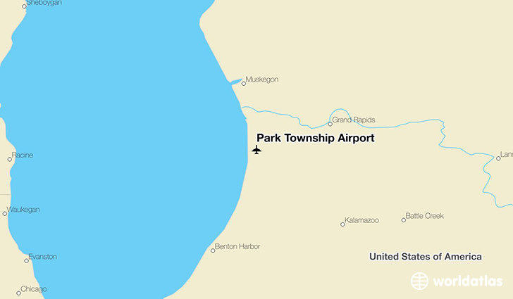 Park Township Airport location on a map