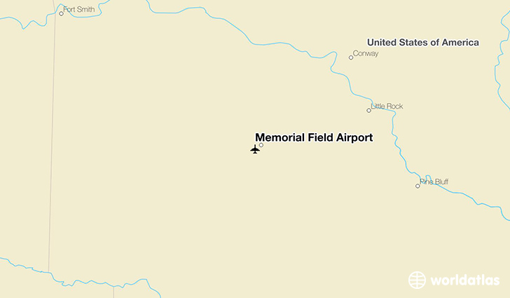 Memorial Field Airport location on a map