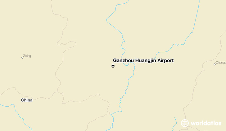 Ganzhou Huangjin Airport location on a map