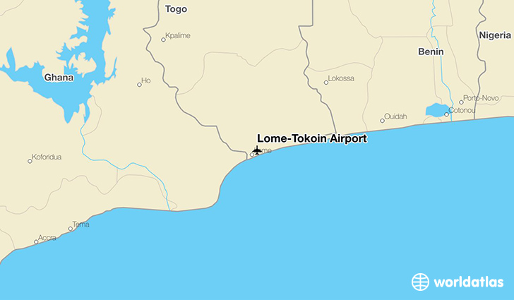 Lomé–Tokoin Airport location on a map