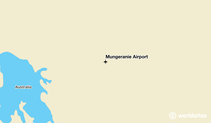 Mungeranie Airport location on a map