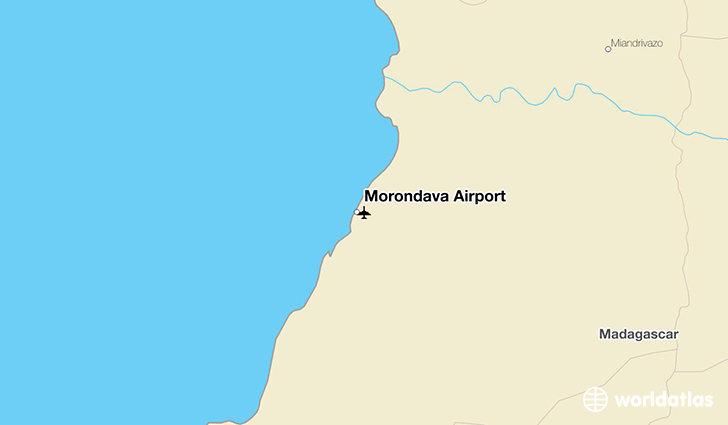 Morondava Airport location on a map