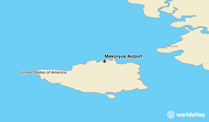 Mekoryuk Airport location on a map