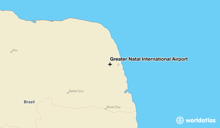 Greater Natal International Airport location on a map