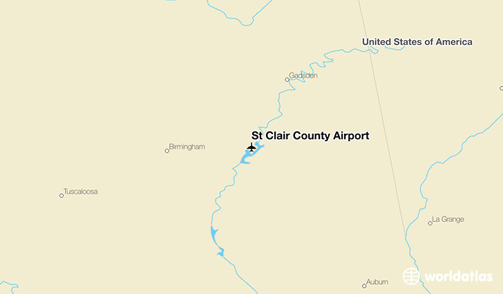 St Clair County Airport location on a map