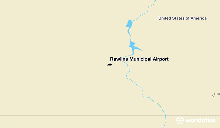 Rawlins Municipal Airport location on a map