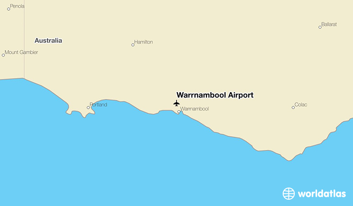 Warrnambool Airport location on a map