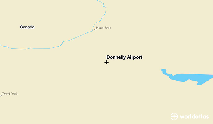 Donnelly Airport location on a map