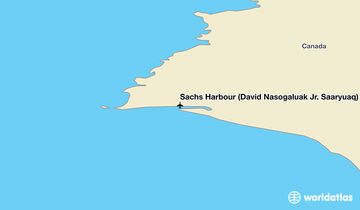 Sachs Harbour (David Nasogaluak Jr. Saaryuaq) Airport location on a map