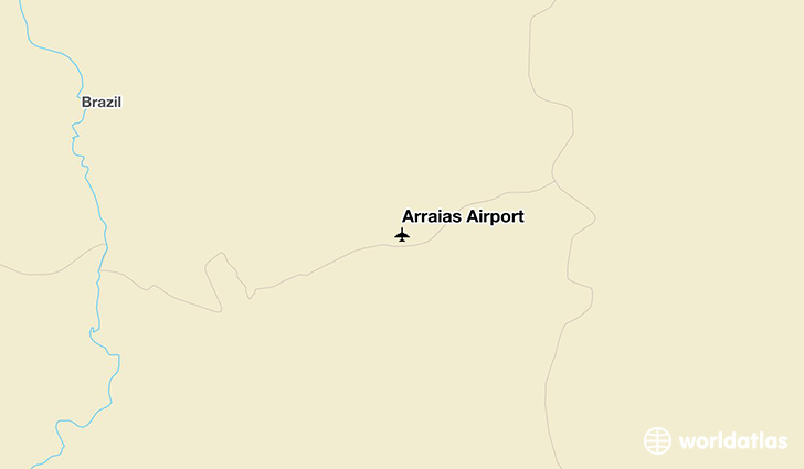 Arraias Airport location on a map