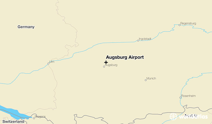Augsburg Airport location on a map