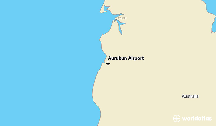 Aurukun Airport location on a map