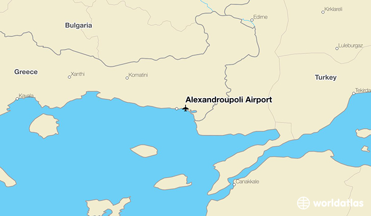 Alexandroupoli Airport location on a map