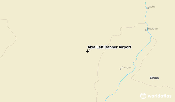 Alxa Left Banner Airport location on a map