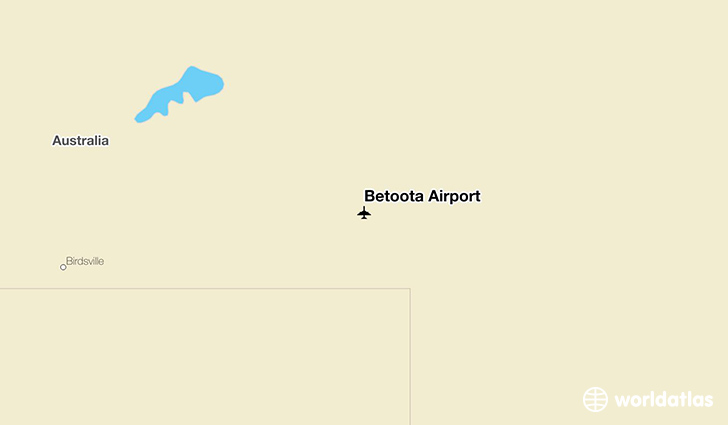 Betoota Airport location on a map