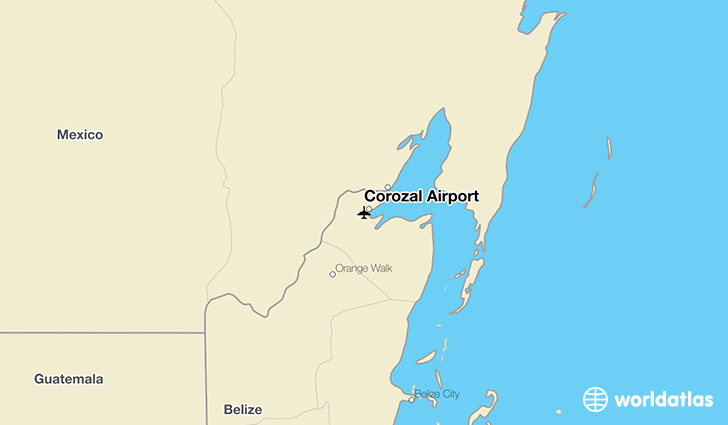 Corozal Airport location on a map