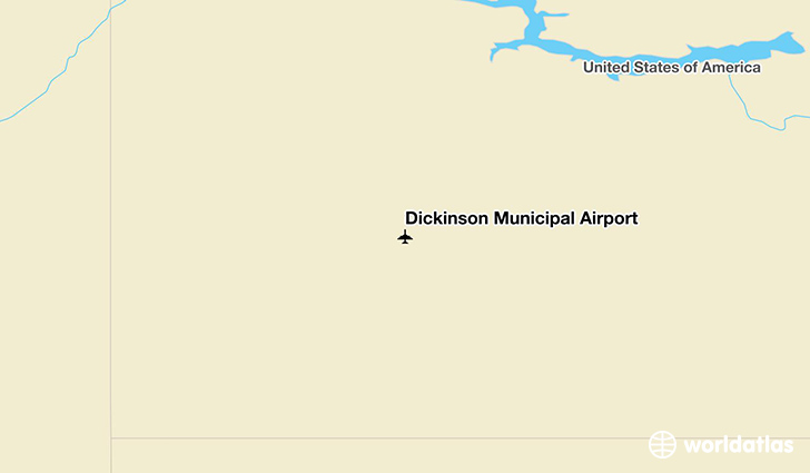 Dickinson Municipal Airport location on a map