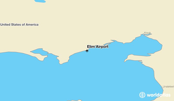 Elim Airport location on a map