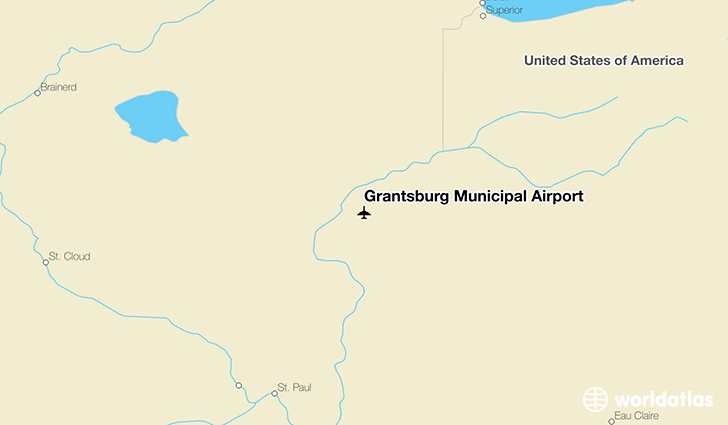 Grantsburg Municipal Airport location on a map