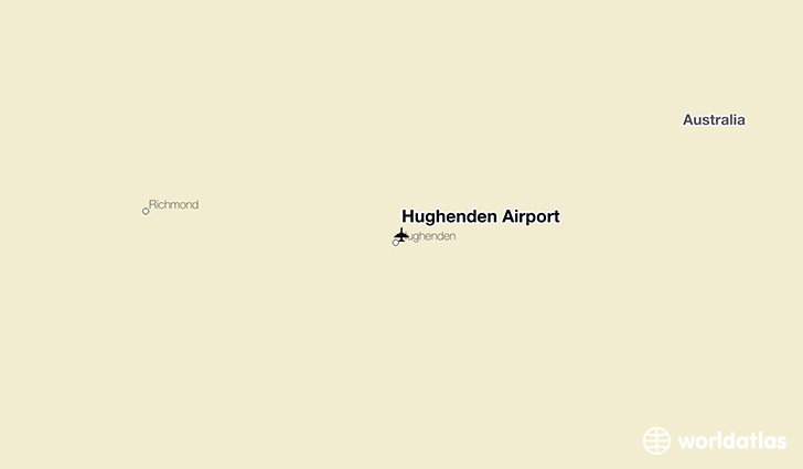 Hughenden Airport location on a map
