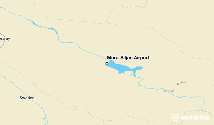 Mora-Siljan Airport location on a map