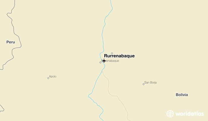 Rurrenabaque location on a map