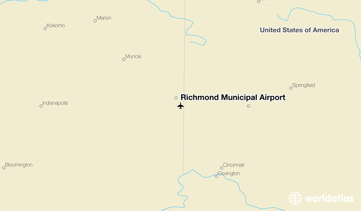 Richmond Municipal Airport location on a map