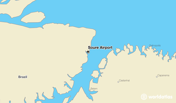 Soure Airport location on a map