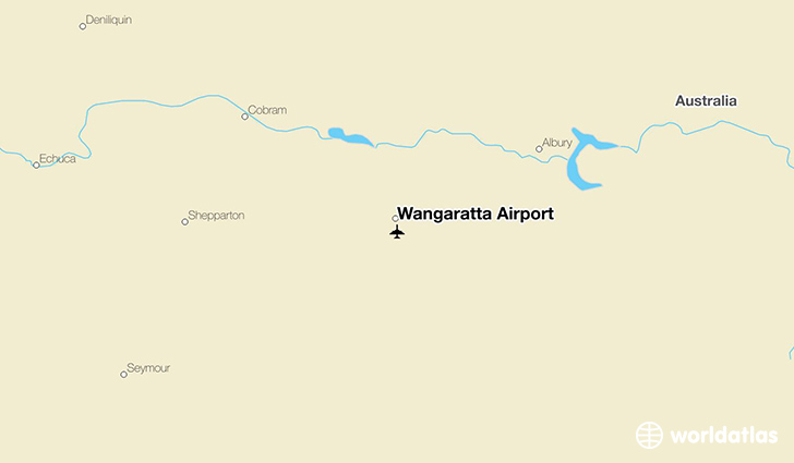 Wangaratta Airport location on a map