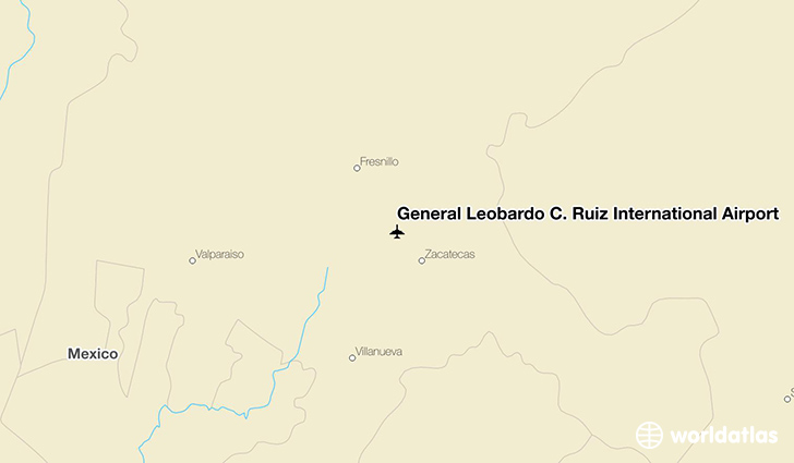 General Leobardo C. Ruiz International Airport location on a map