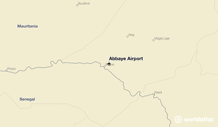 Abbaye Airport location on a map