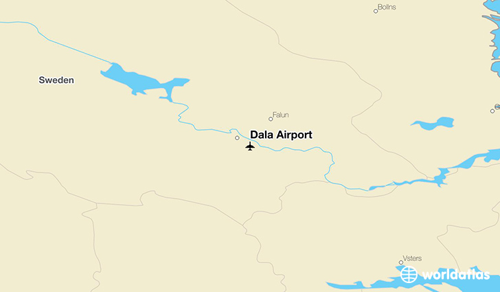 Dala Airport location on a map