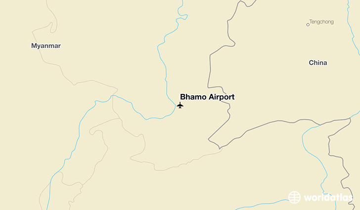 Bhamo Airport location on a map