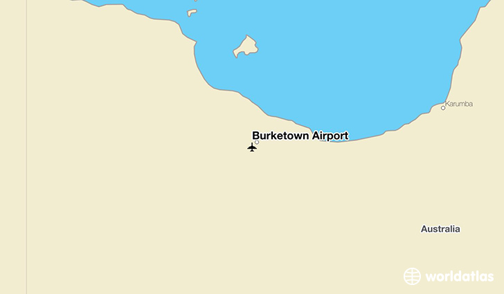 Burketown Airport location on a map