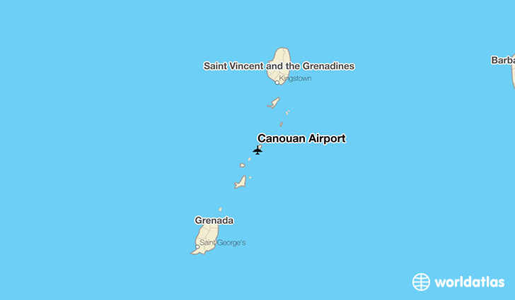 Canouan Airport location on a map