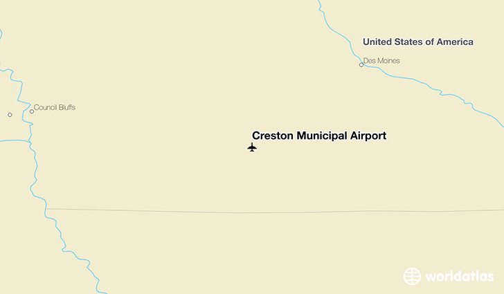 Creston Municipal Airport location on a map