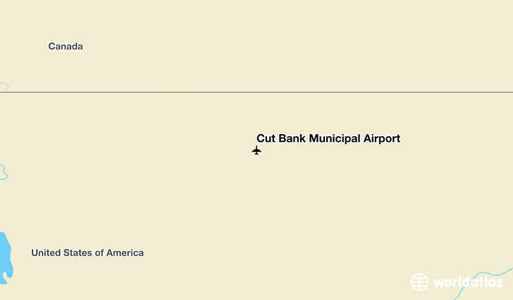Cut Bank Municipal Airport location on a map