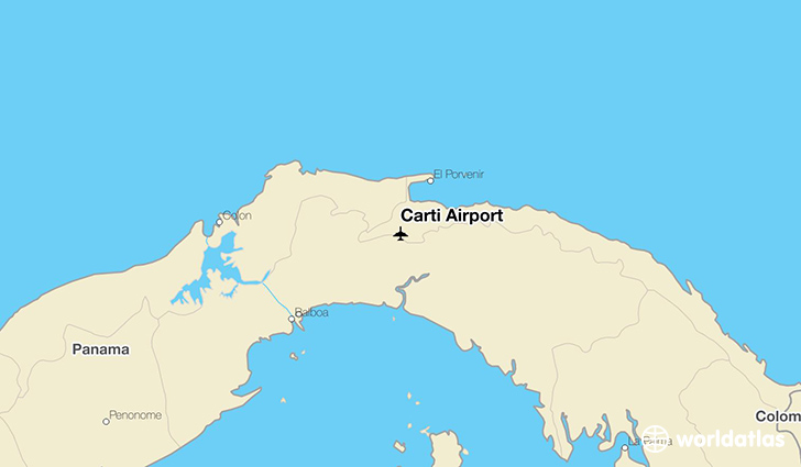 Carti Airport location on a map
