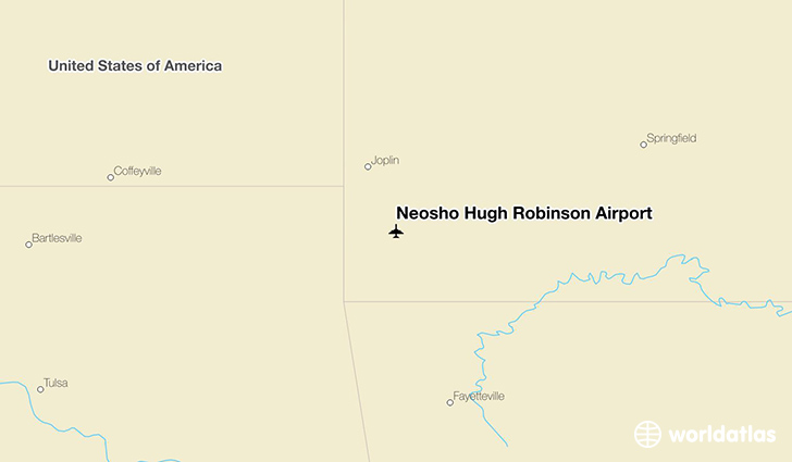 Neosho Hugh Robinson Airport location on a map