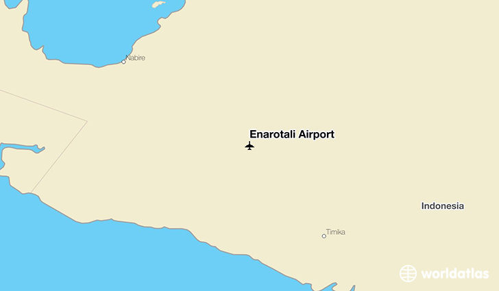 Enarotali Airport location on a map