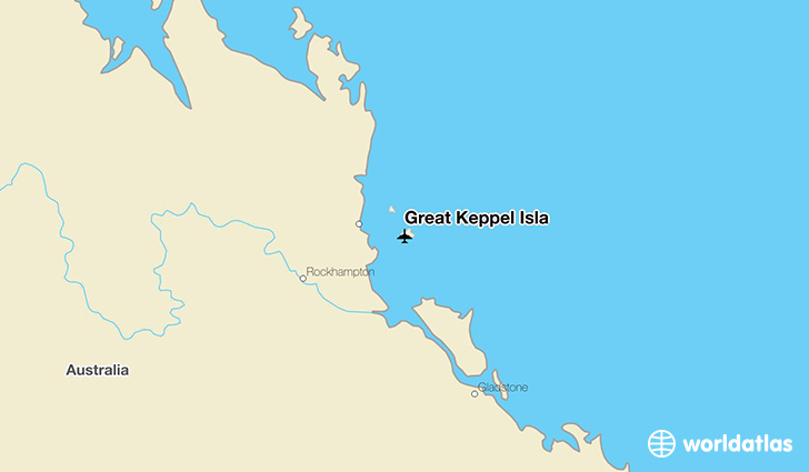 Great Keppel Isla location on a map