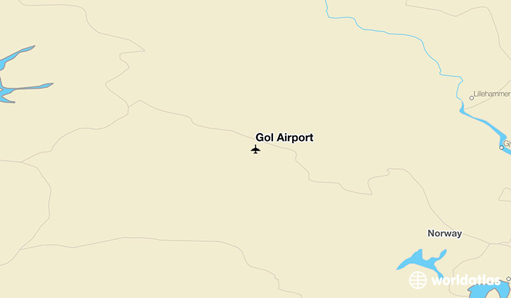 Gol Airport location on a map